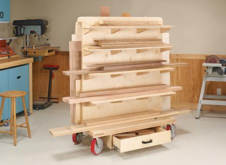 Sturdy Lumber Cart