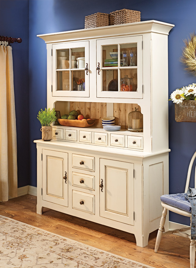If your style leans toward the down-home, traditional look of country furniture, then this heirloom hutch is the perfect project.