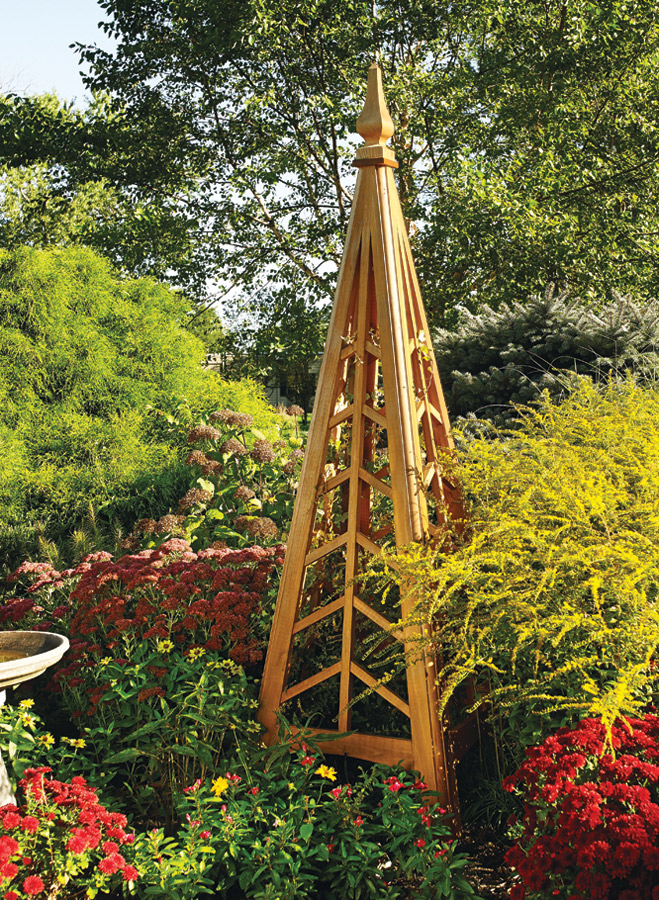Pump up the visual interest of your yard or garden this season with this one-of-a-kind cedar structure.