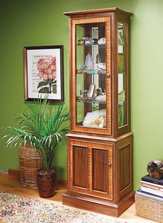 Glass Tower Display Cabinet