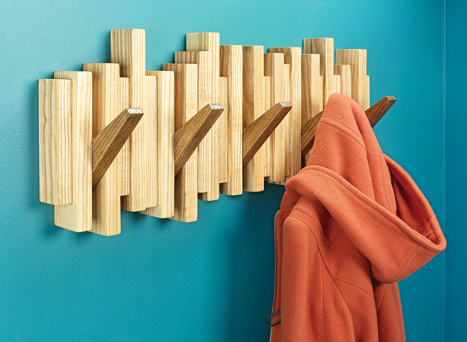 Sporting a mid-century vibe, this coat rack is one part wall art, one part handy place to park your jacket, or hat.