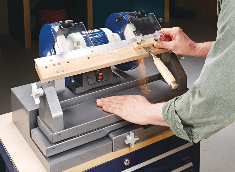 Upgrade your standard bench grinder into a sharpening workhorse. You'll never have an excuse for using a dull tool again.