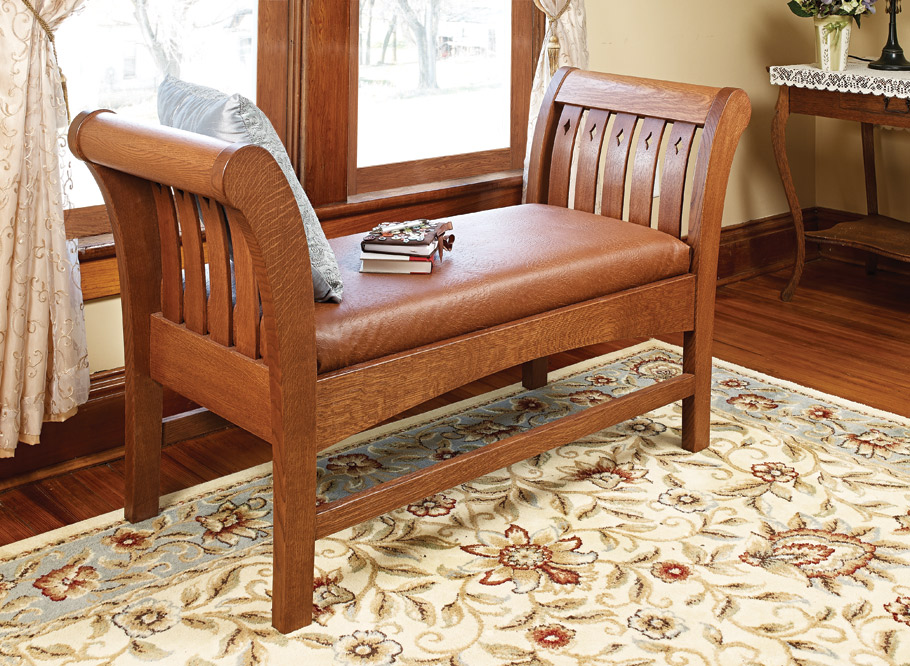 Bring an elegant piece of European history into your own home with this classic, comfortable bench that's fit for a king.