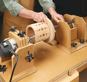 Shop-Made Threading Jig & Canisters