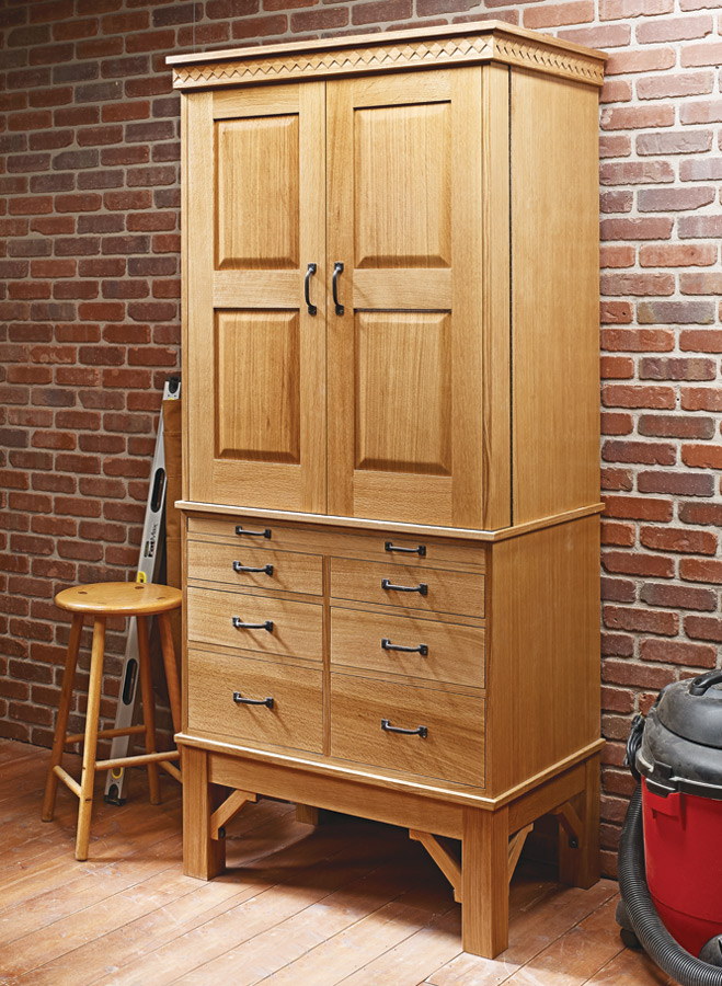 You'll find a home for almost every tool in your shop with this classic cabinet.