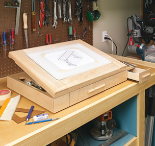 Lighted & Adjustable Drawing Table