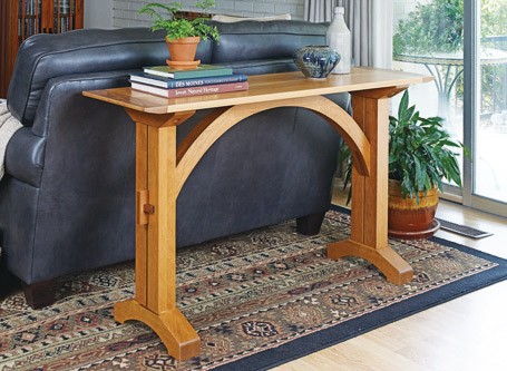 Arched-Stretcher Sofa Table