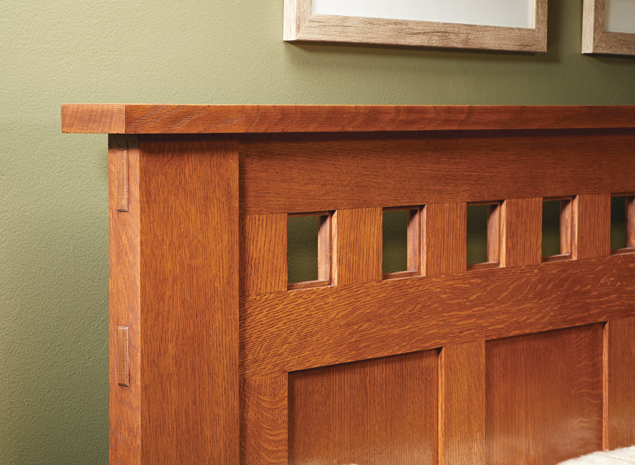 Quartersawn white oak and Craftsman-era design combine to create this handsome companion to our Gentleman's Dresser.