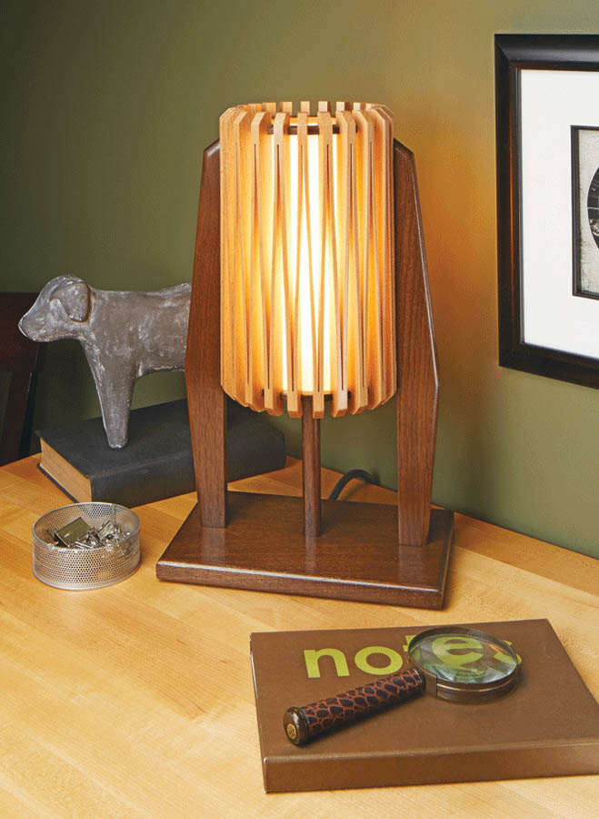 """Build this modern-looking desk lamp that'll have people asking, """"How'd you make that shade?"""""""