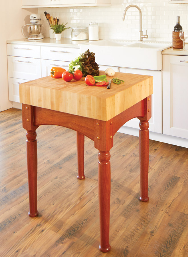 Butcher Block Woodworking Project Woodsmith Plans