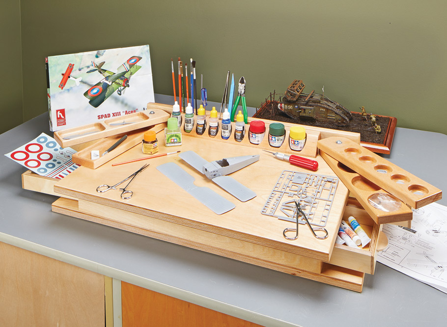 Customized organization and storage make this portable hobby station a great addition for any enthusiast.