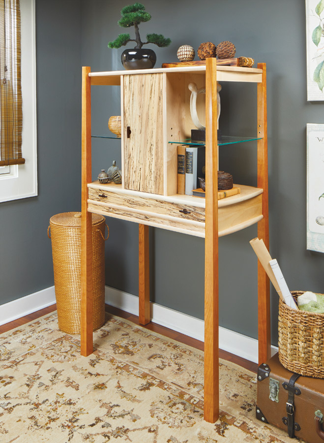 Curio Cabinet Woodworking Project Woodsmith Plans