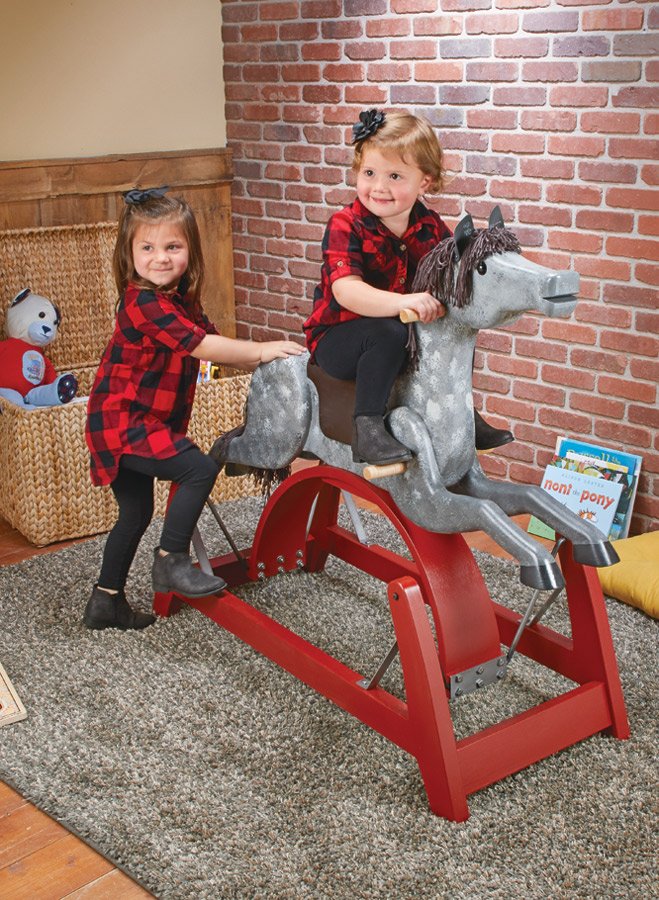 You're sure to light up a child's face when you present them with this amazing and whimsical rocking horse.