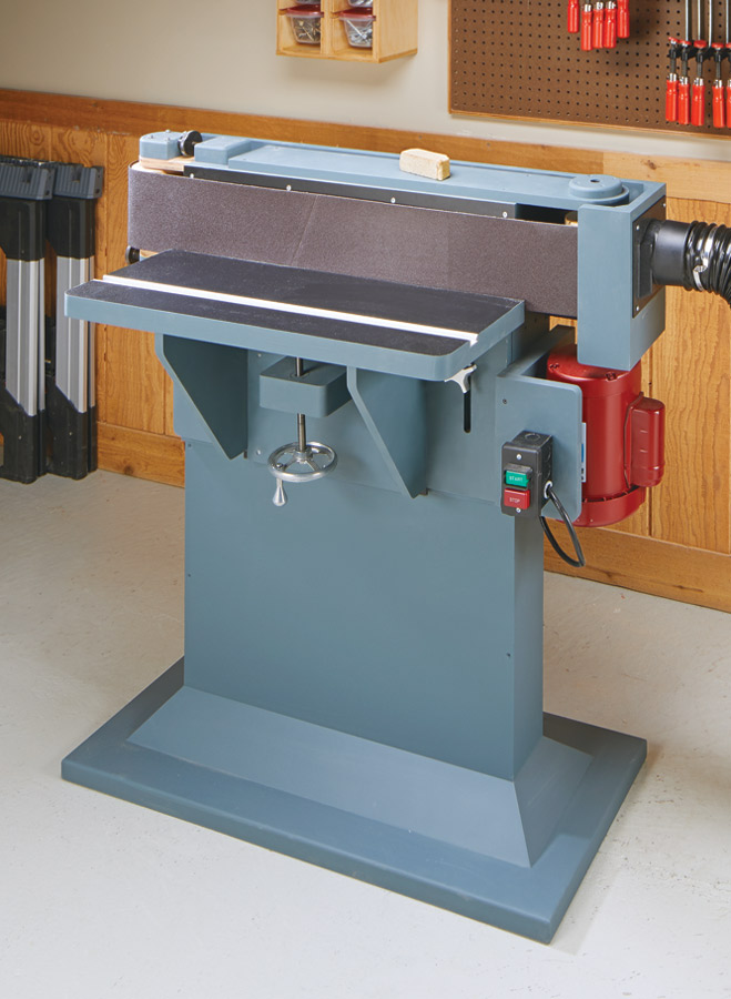 This shop-built edge sander makes quick work of tough sanding jobs. Plus, it can be built at a fraction of the cost of a commercial unit.