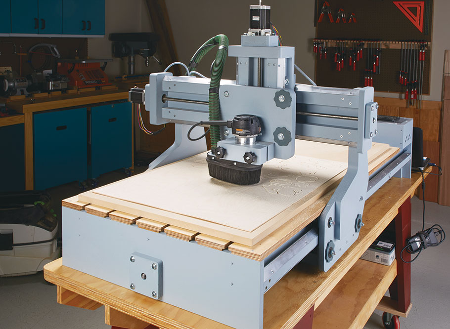 Turn your woodworking shop into a machining, cutting, carving, and milling powerhouse with our shop-made, CNC machine.