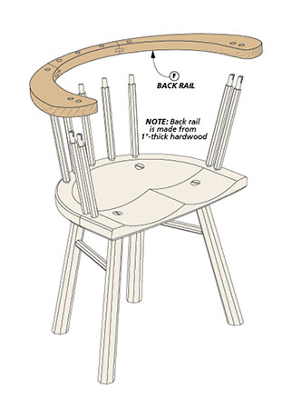 If you've ever wanted to try your hand at building a chair, this handsome Welsh stick chair is the perfect project to get you started on your journey.