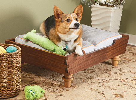 A few boards and a weekend in the shop are all you need to create a cozy, comfortable bed for your favorite pet.