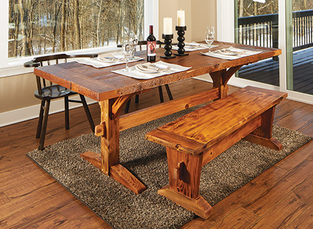 Rustic Dining Table & Bench