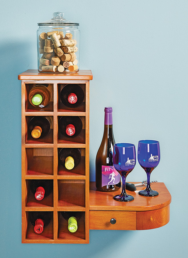 Try this compact serving and storage solution for keeping a few bottles of wine ready at hand. Plus, with this project you can learn some techniques for solid construction along the way.