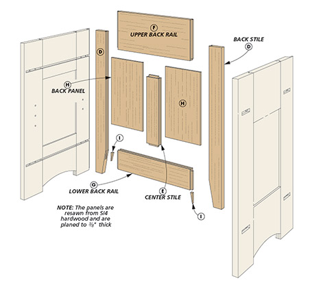 Taking cues from an earlier dresser, this project puts storage and quartersawn white oak front and center.