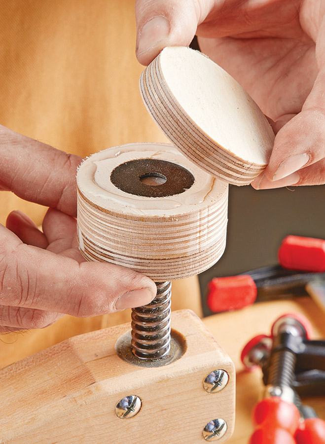 Shop-made, deep reach clamps. They're perfect for gluing up a big panel, and won't break the woodworking budget in the process.