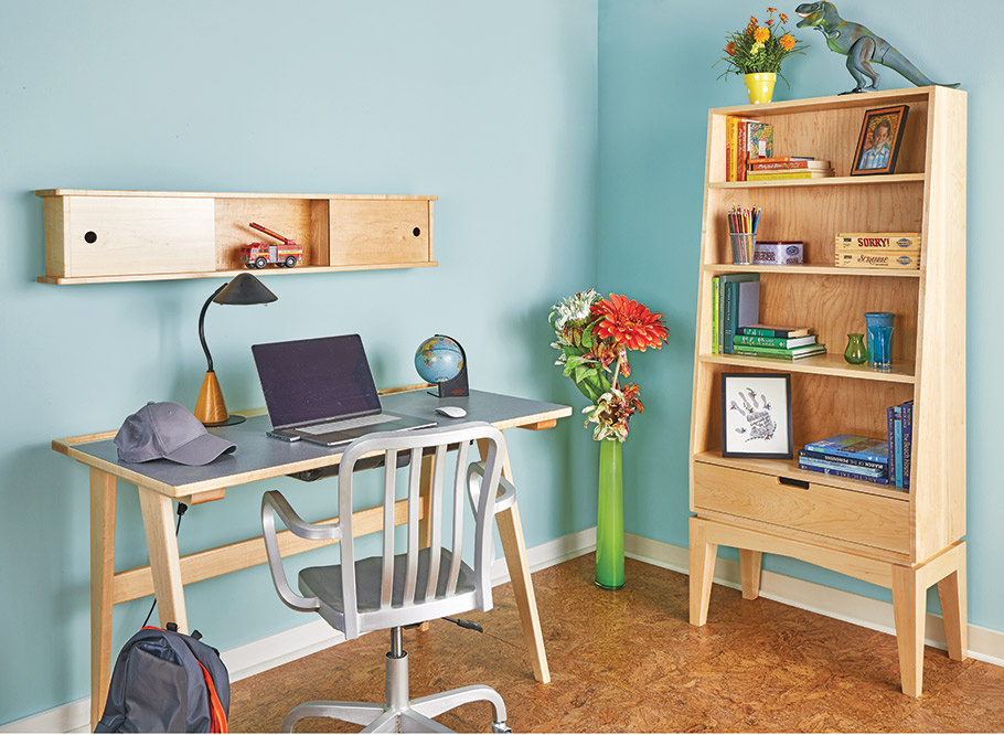 Form and function stand side by side in this bookcase-on-stand. Its compact size works in most every room.