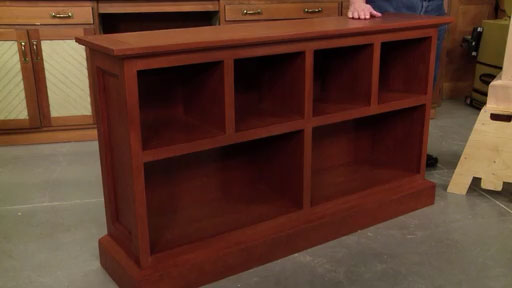 Low Cherry Bookcase Woodworking Project Woodsmith Plans