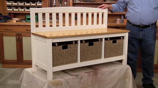 Mudroom Storage Bench | Woodworking Project | Woodsmith Plans