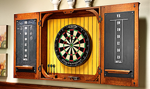 Dartboard Cabinet Woodworking Project Woodsmith Plans