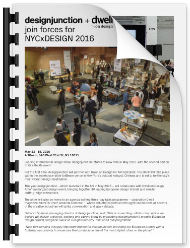 PDF Download of designjunction + Dwell on Design join forces for NYCxDESIGN