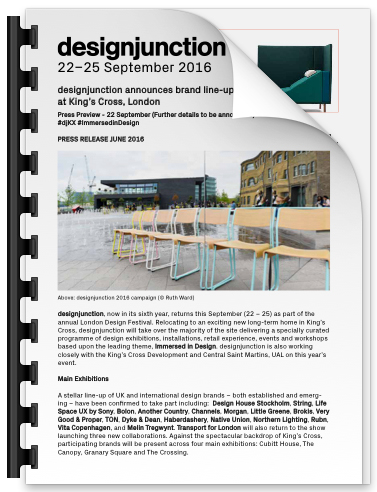 PDF Download of designjunction announces brand line-up and special projects at King's Cross, London