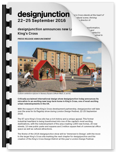 PDF Download of designjunction announces new London home in King's Cross