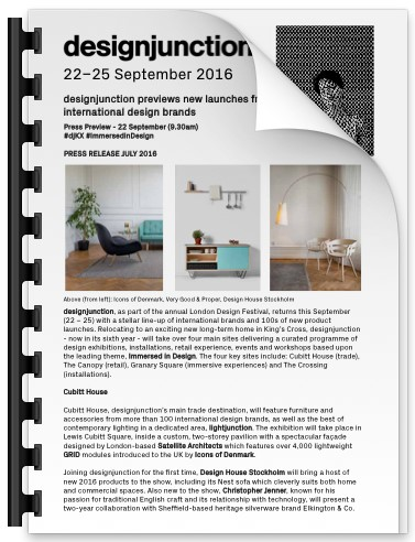 PDF Download of designjunction previews new launches from leading UK and international design brands