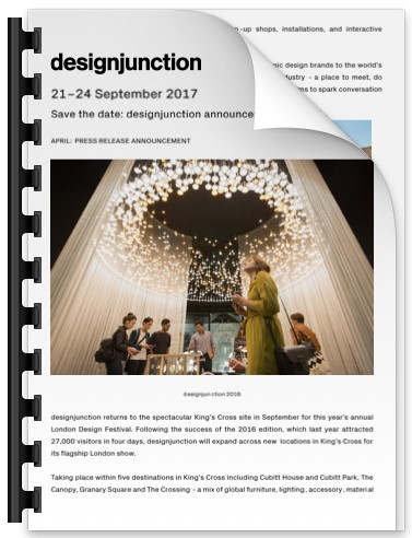 PDF Download of Save the date: designjunction announces plans for 2017
