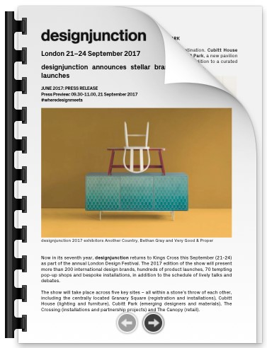 PDF Download of designjunction announces stellar brand line-up and new launches