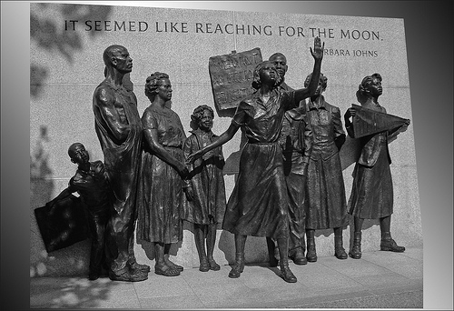 'It Seemed Like Reaching for the Moon.' -- Virginia Civil Rights Memorial Richmond (VA) 2012