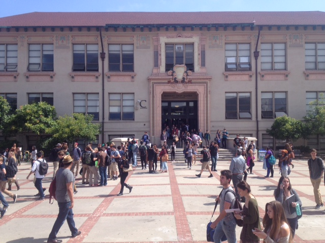The courtyard at Berkeley High, May, 2014.