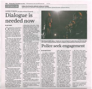 Police Engagement Op Ed Chronicle_Youth Radio
