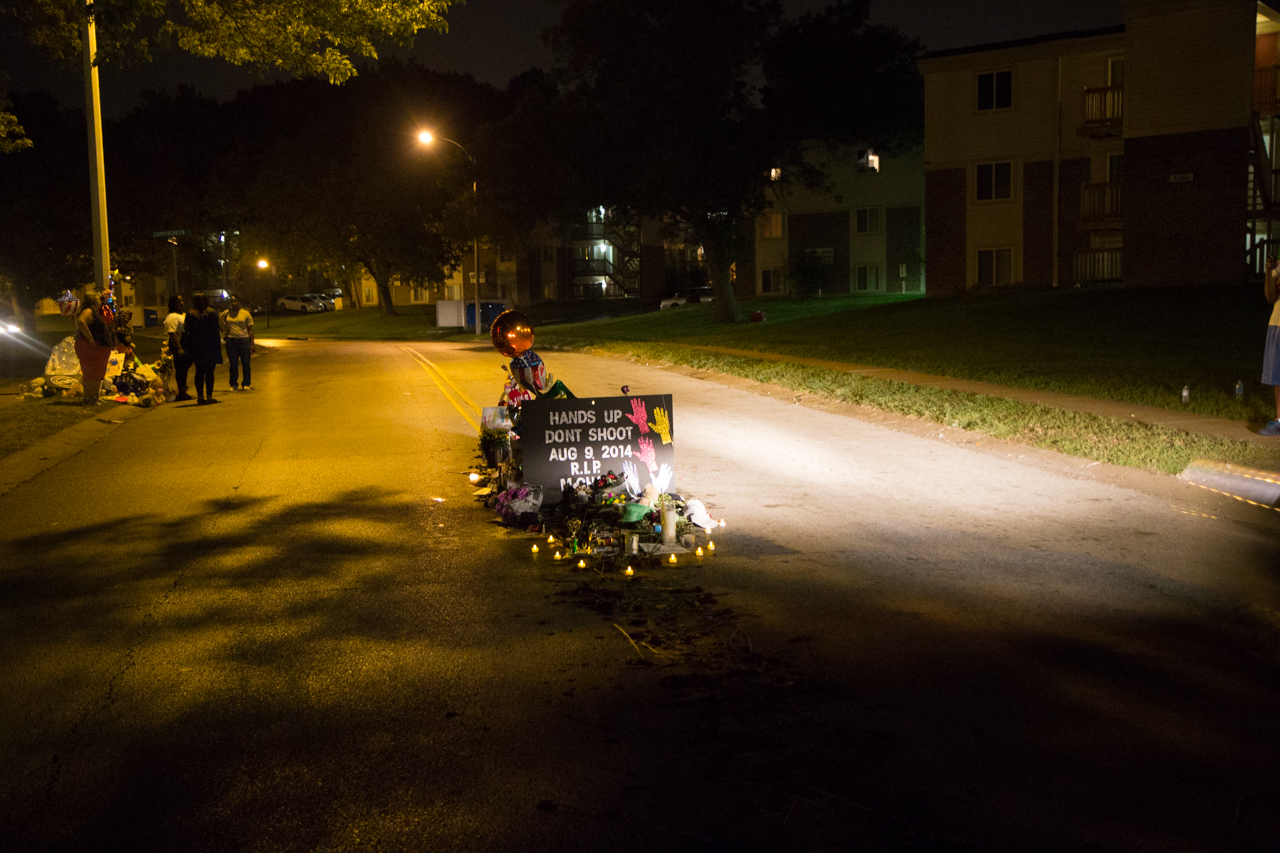 On Ferguson's Streets, Echoes Of Another Fatal Shooting