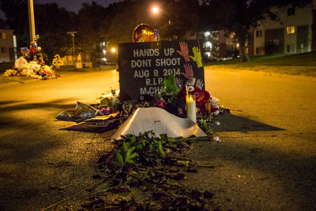 Memorial Where Michael Brown Was Shot