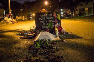 Memorial Where Michael Brown Was Shot