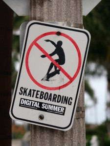 Skateboarding is a Crime