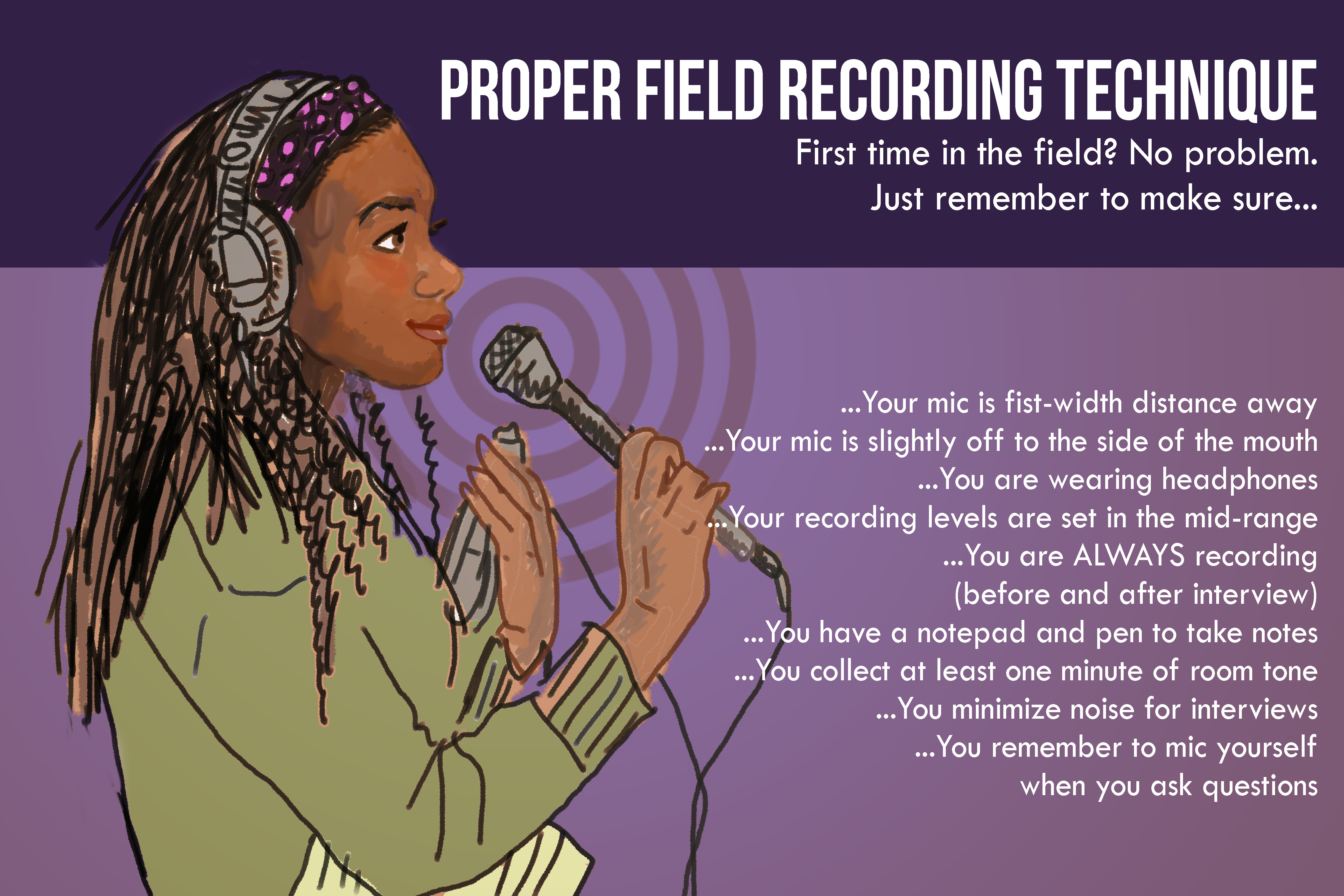 Field Recording Graphic Illustration