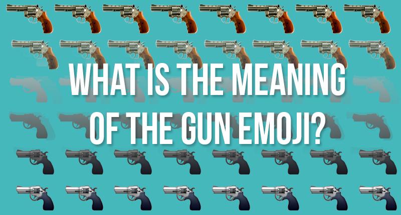 gun emoji hearo shot