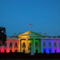 white house rainbow