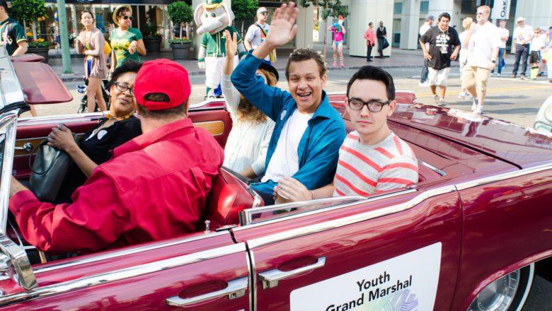 Youth Grand Marshall Rafael Jones During Oakland Pride Parade