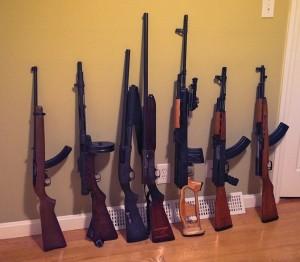a few long guns