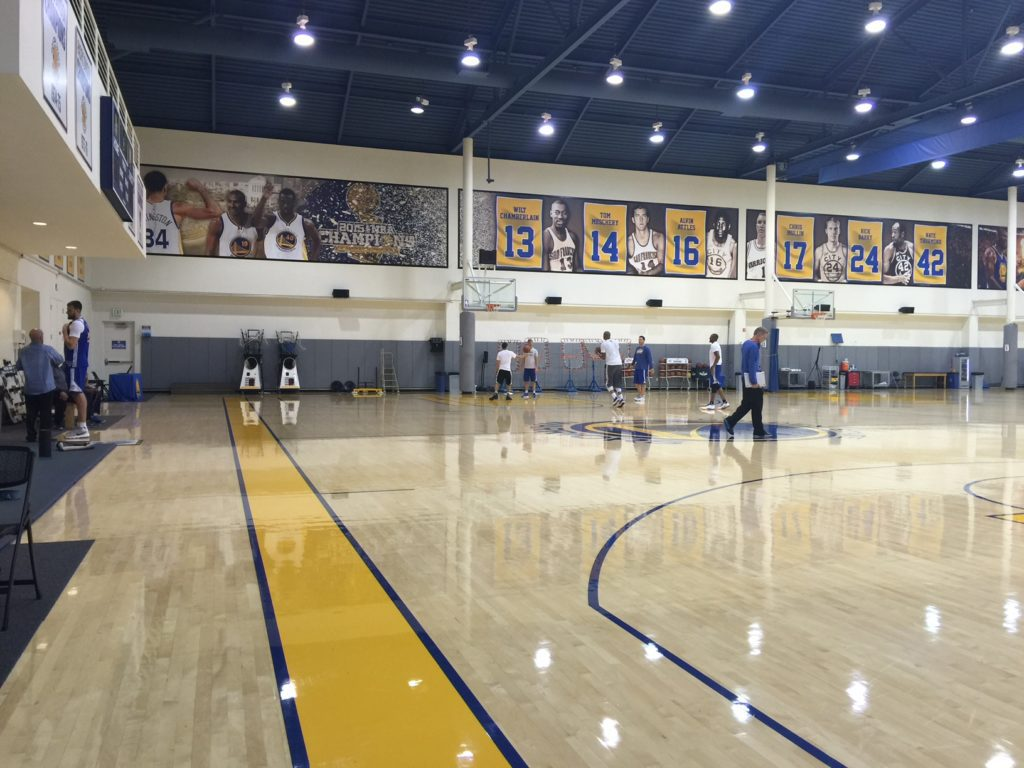 Golden State Warriors practice facility. (Photo Credit: Denise Tejada)