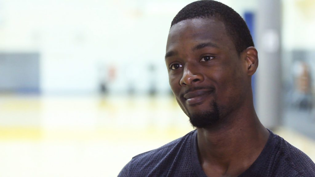 Golden State Warriors forward Harrison Barnes at their practice facility. (Photo Credit: Chaz Hubbard)