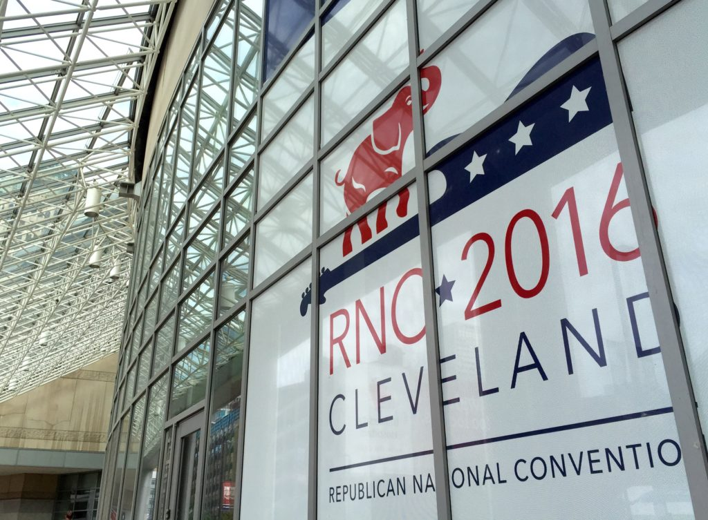 Cleveland's Quicken Loans Arena prepped for RNC. Photo: Brett Myers/Youth Radio